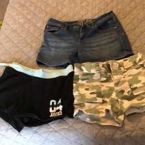 Justice shorts size 14.